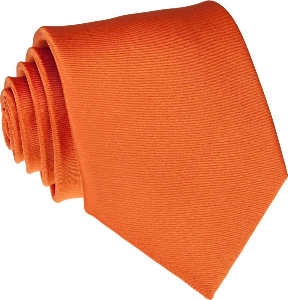 Tangerine Wedding Tie - Wedding