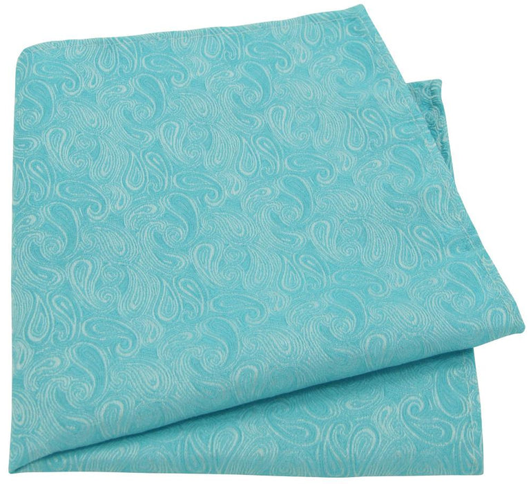 Turquoise Paisley Pocket Square - Wedding