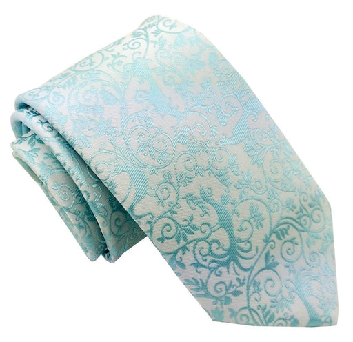 Turquoise Peacock Wedding Tie - Wedding