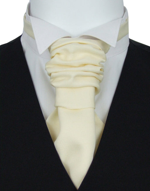 Vanilla Pre-Tied Wedding Cravat - Wedding