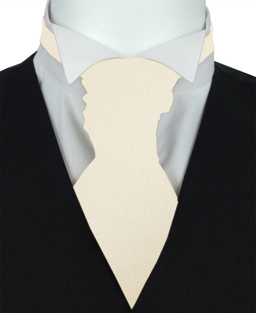 Vanilla Suede Pre-Tied Wedding Cravat - Wedding