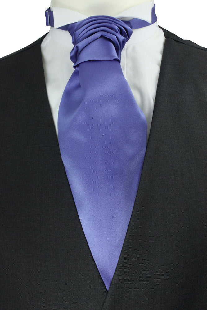 Violet Pre-Tied Wedding Cravat - Wedding