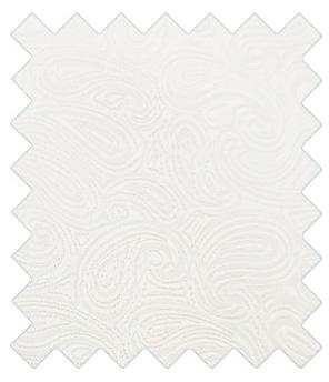 White Paisley Wedding Swatch - Swatch