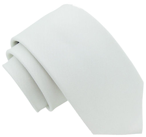 White Silk Wedding Tie - Wedding