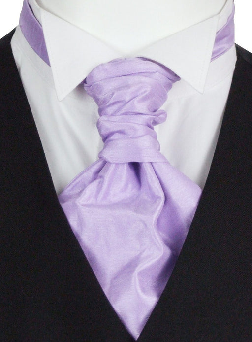 Wisteria Shantung Boys Pre-Tied Wedding Cravat - Childrenswear