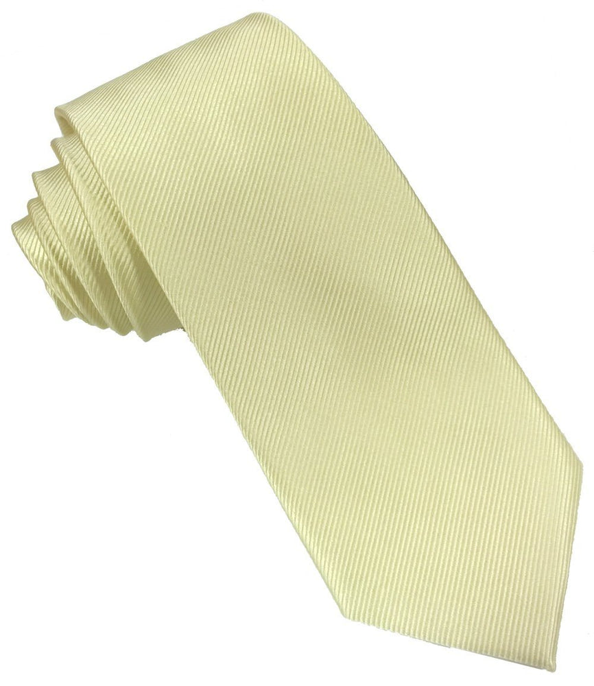 Yellow Silk Wedding Tie - Wedding