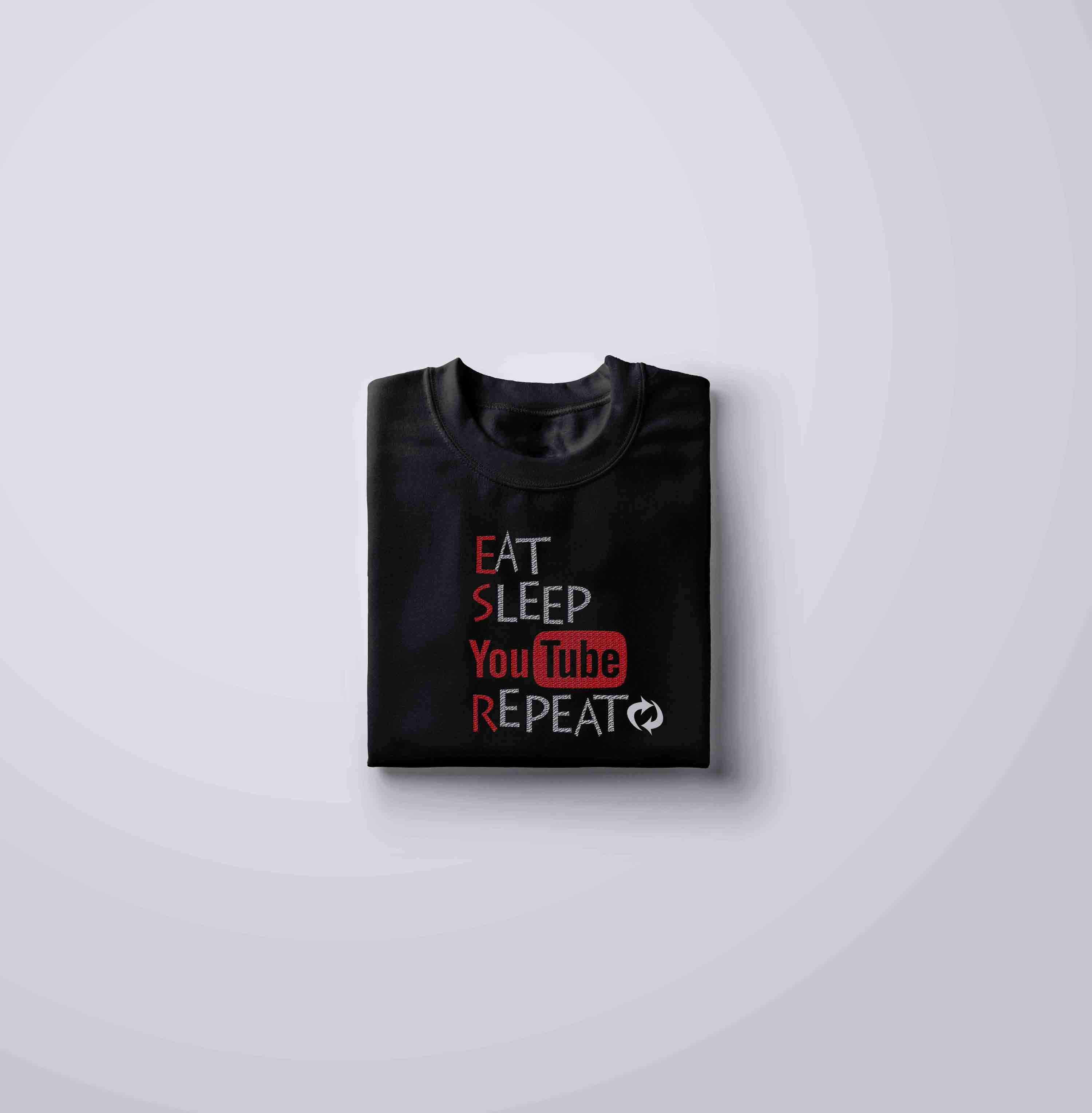 EAT SLEEP YOUTUBE REPEAT - T-SHIRT © - Passion Swap