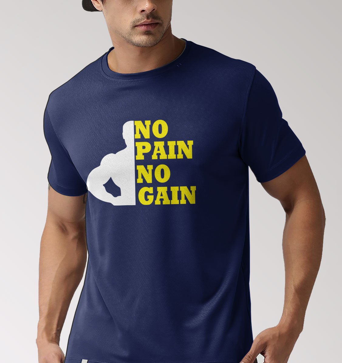 NO PAIN NO GAIN MUSCLES -T-SHIRT