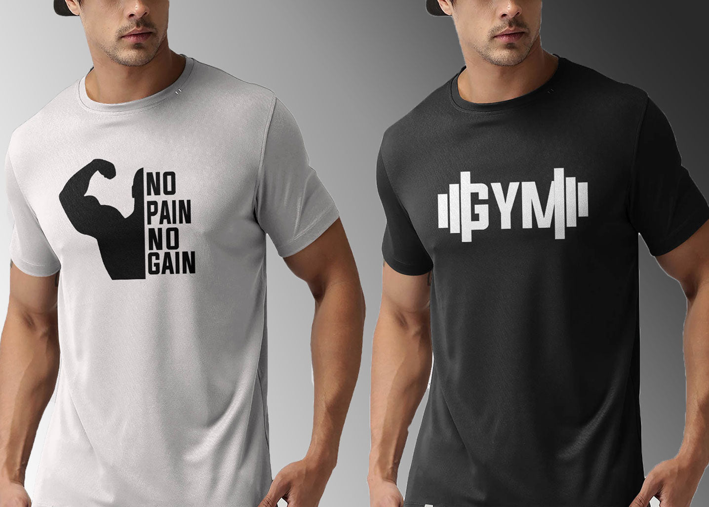 Pack of 2 Gym T-Shirts - Passion Swap