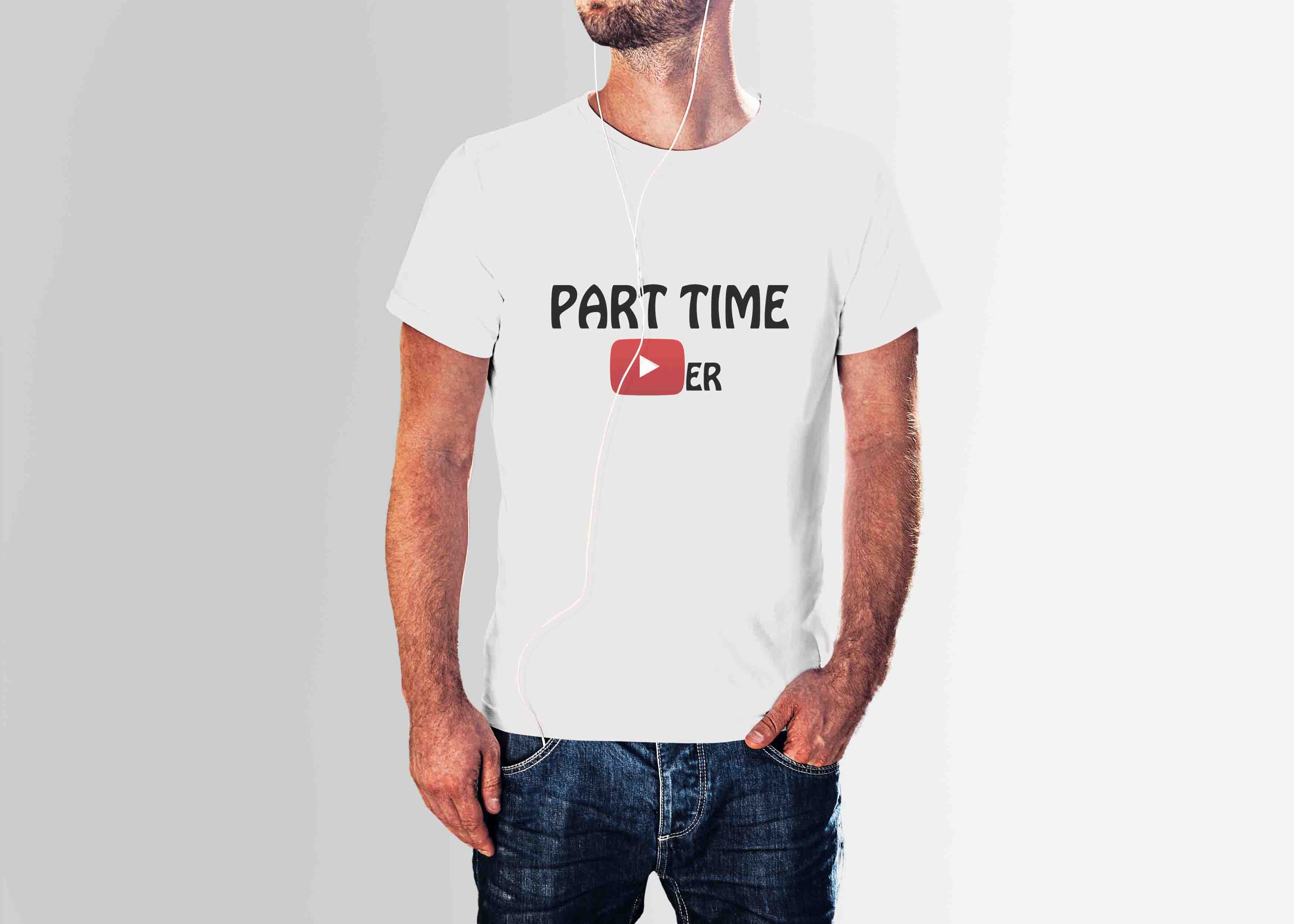 PART TIME YOUTUBER - YOUTUBE T-SHIRT © - Passion Swap