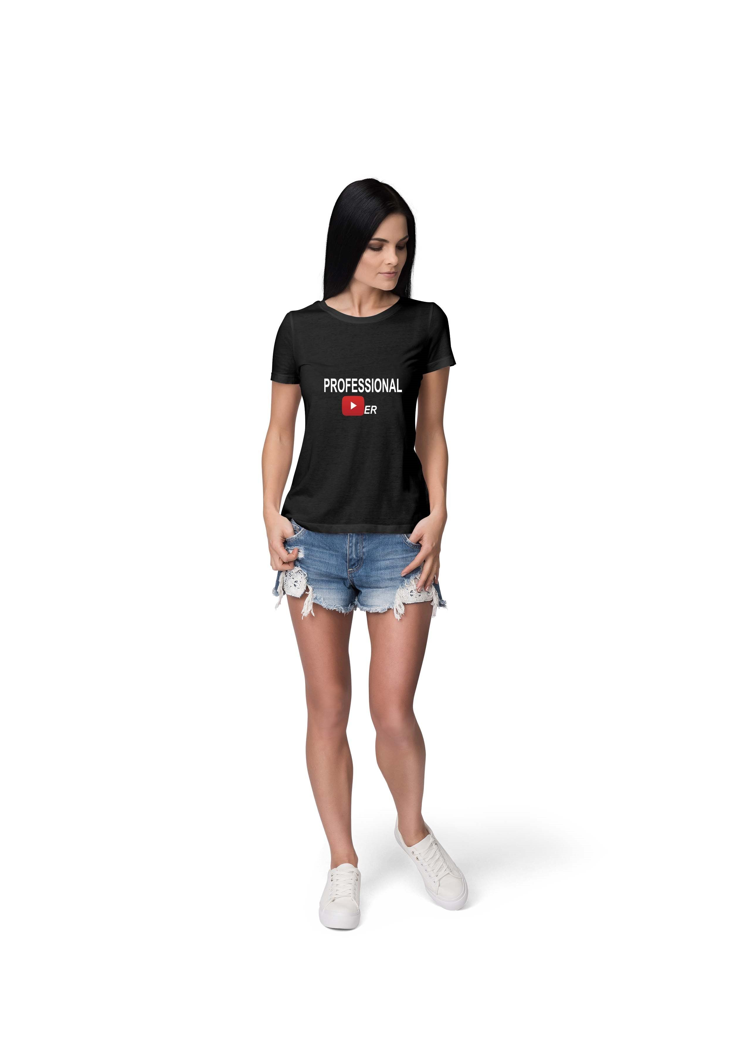 PROFESSIONAL YOUTUBER - WOMEN TSHIRT © - Passion Swap