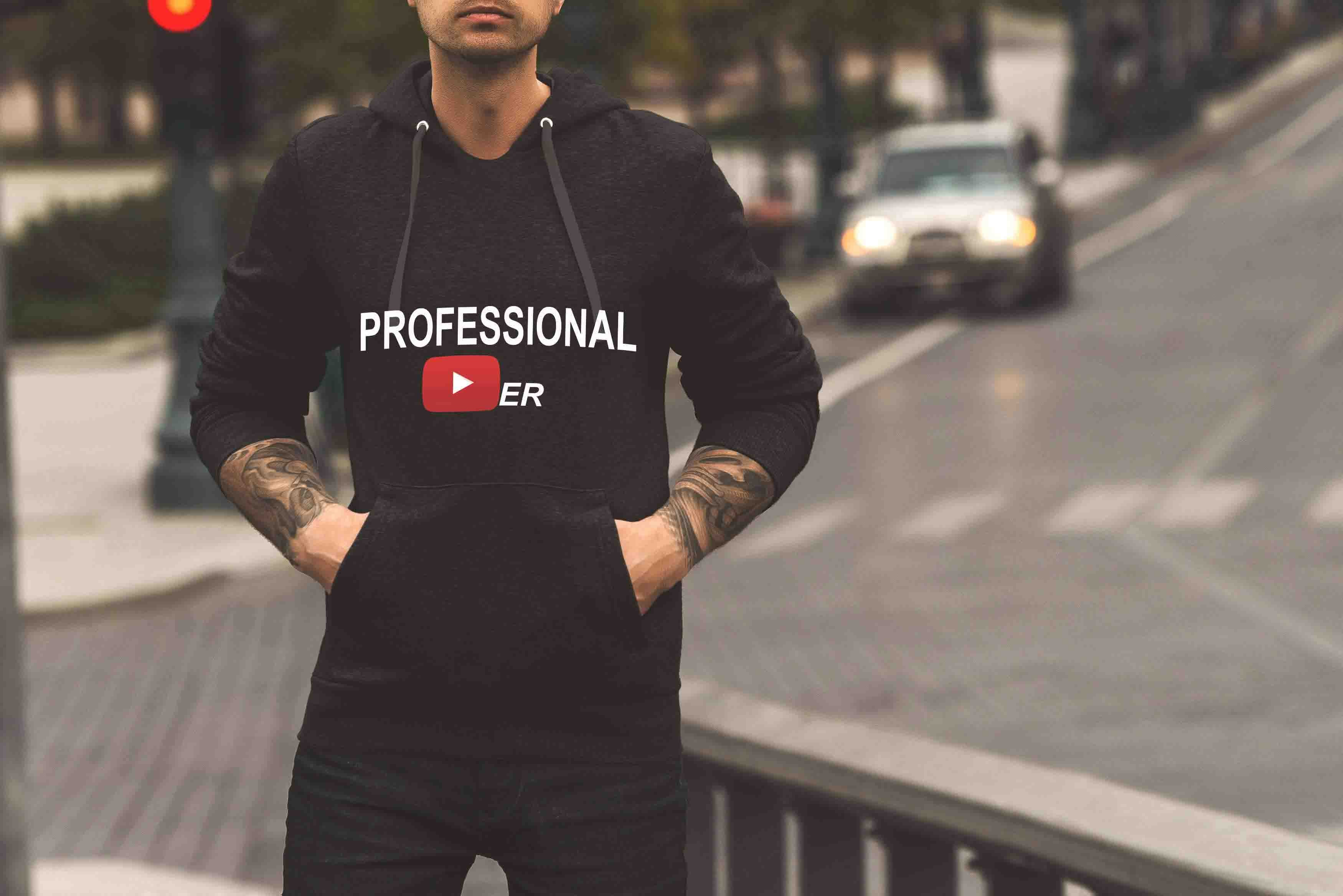 PROFESSIONAL YOUTUBER - HOODIE © - Passion Swap