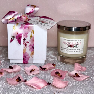 30cl Natural Wax Candle Clear with Luxury Gift Box