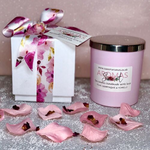 30cl Natural Wax Candle Pink With Luxury  Box