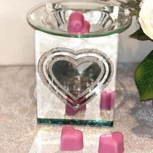Silver Mirrored Heart Burner