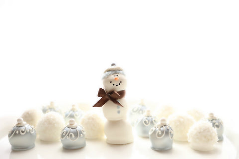 3-Tier Snowman Snowflakes Snowballs Cordial Cherry chocolate covered cherries Christmas best gift deliver client business