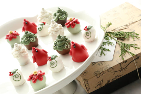 Christmas Garden Cardinal Poinsettia Cordial Cherry Chocolate Covered Cherries Truffles