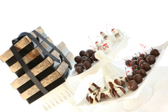 Chocolate covered cherry snowmen cordial cherries best Christmas gift box client gift truffles fudge The Cordial Cherry Melissa Stephens Omaha