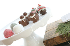 Christmas Sweets Gingerbread Men gumdrops Cakes Piece Dark Milk White Chocolate Cordial Cherries Chocolate Covered Client Gift Box Christmas Truffles Fudge