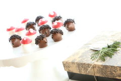 Hedgehog and Mushroom The Cordial Cherry chocolate covered cherries for Easter Christmas Valentine best gift box delivery