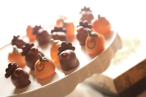 The Cordial Cherry chocolate covered cherries truffle Turkeys Pumpkins Thanksgiving Fall Best Unique Gift Deliver