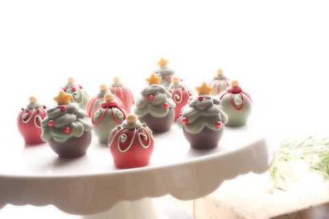 Chocolate Christmas Tree Truffles