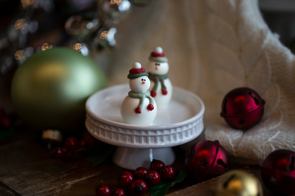 16-Piece Snowmen Cordial Cherries and Chocolate Truffles