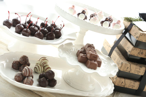 Chocolate Truffles ~ 4-Tier Gift Tower ~ Valentine Love Birds