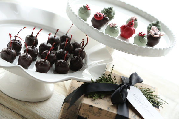 Cordial Cherries ~ 2-Tier Gift Tower ~ Love Garden