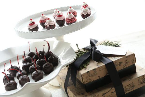 Cordial Cherries ~ 2-Tier Gift Tower ~ Valentine Cupcakes