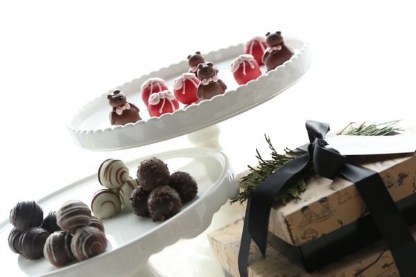 Chocolate Truffles ~ 2-Tier Gift Tower ~ Valentine Teddy Bears