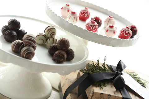 Chocolate Truffles ~ 2-Tier Gift Tower ~ Valentine Hearts