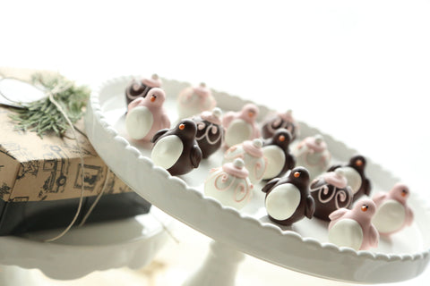 Chocolate Truffles ~ 16-Piece Gift ~ Valentine Love Birds