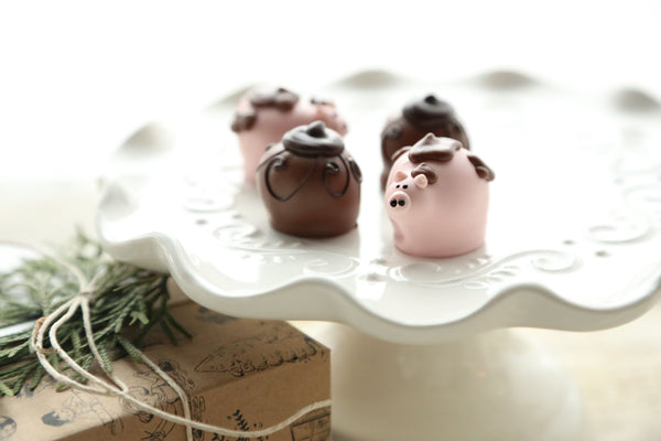 Chocolate Truffles ~ 4-Piece Gift ~ Muddy Piggies