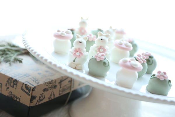 Chocolate Truffles ~ 16-Piece Gift ~Bunnies in the Flower Patch