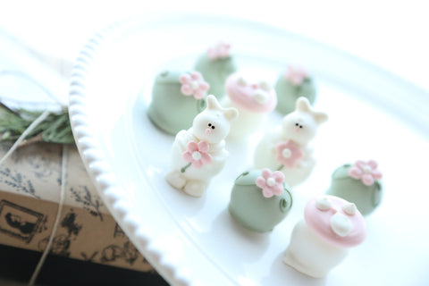 Chocolate Truffles ~ 9-Piece Gift ~Bunnies in the Flower Patch