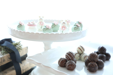 Chocolate Truffles ~ 2-Tier Gift Tower ~Bunnies in the Flower Patch