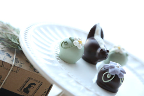 Chocolate Truffles ~ 4-Piece Gift ~ You Can Call Me Flower