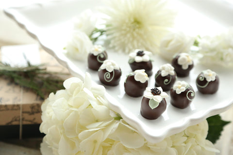 Chocolate Truffles ~ 9-Piece Gift ~ Flower Garden