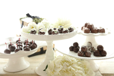 Chocolate Truffles ~ 4-Tier Gift Tower ~ Flower Garden
