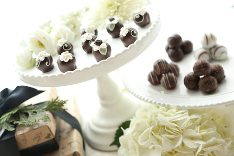 Chocolate Truffles ~ 2-Tier Gift Tower ~ Flower Garden