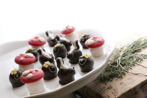 16-Piece Skunks, Mushrooms, and Daisies Cordial Cherries