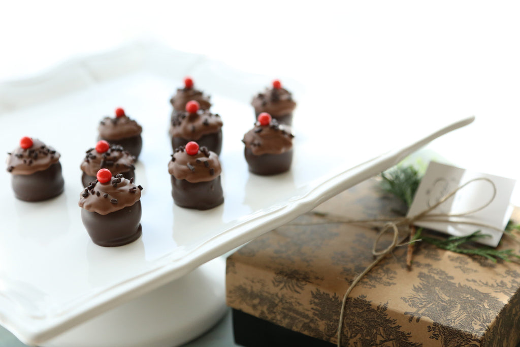 Chocolate Birthday Cupcake Cordial Cherries