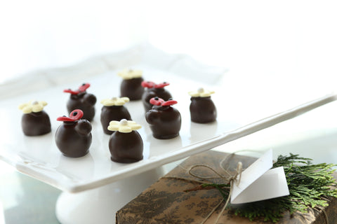 Wholesale Lady Bugs and Daisies Chocolate Covered Cordial Cherries