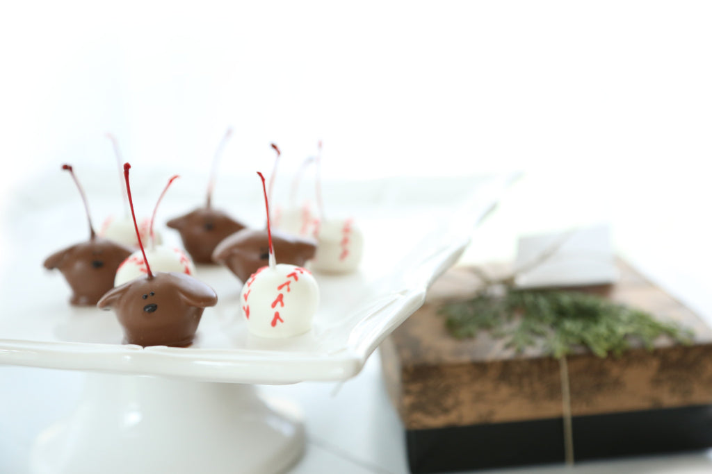 Puppies and Baseball Cordial Cherries Gift
