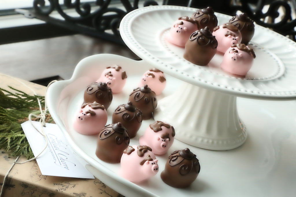Chocolate Truffles ~ 16-Piece Gift ~ Muddy Piggies