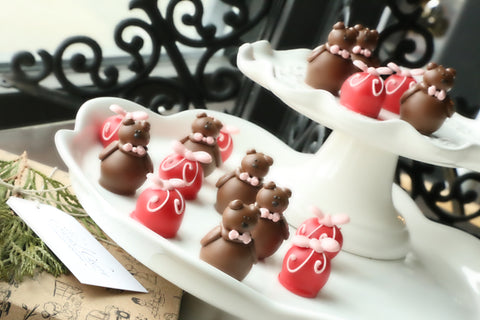 Chocolate Truffles ~ 16-Piece Gift ~ Valentine Teddy Bears
