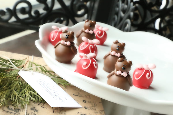 Chocolate Truffles ~ 9-Piece Gift ~ Valentine's Day Teddy Bears