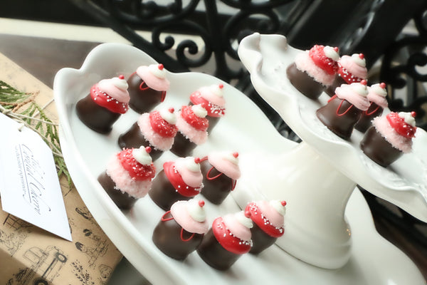 Chocolate Truffles ~ 16-Piece Gift ~ Valentine's Day Cupcakes