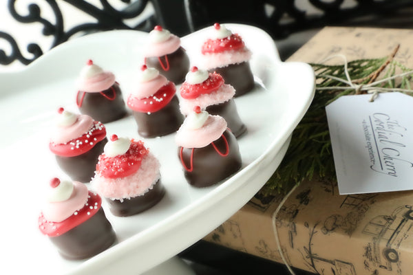 Cordial Cherries ~ 9-Piece Gift ~ Valentine's Day Cupcakes